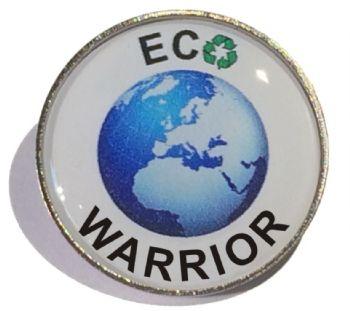 ECO WARRIOR round badge